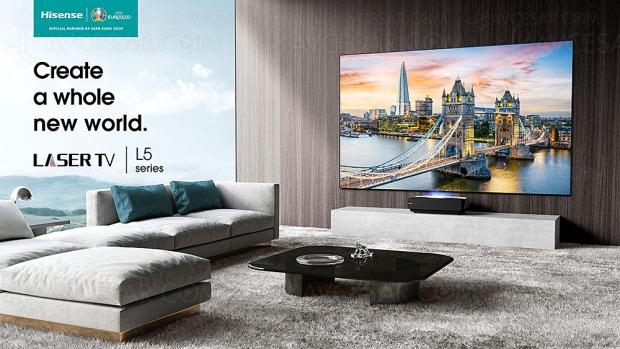 Hisense Laser TV 100L5F Ultra HD/4K : HDR, 2 700 lumens et 100'' à moins de 5 000 €