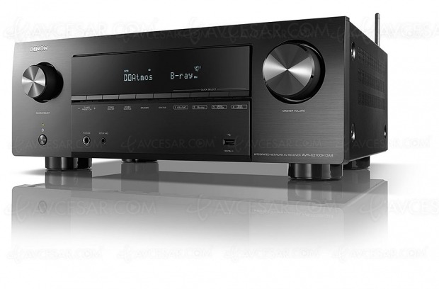 Denon AVR-X2700H DAB+ : 7.2, HDMI 2.1, HDR Dolby Vision, HDR10+, AirPlay 2, Heos…