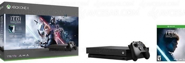 Soldes CDiscount, Xbox One X 1 To Star Wars Jedi : Fallen Order + 1 mois d'essai au Xbox Live Gold/Game Pass à 299 €, soit 200 € de réduction ou -40% de remise