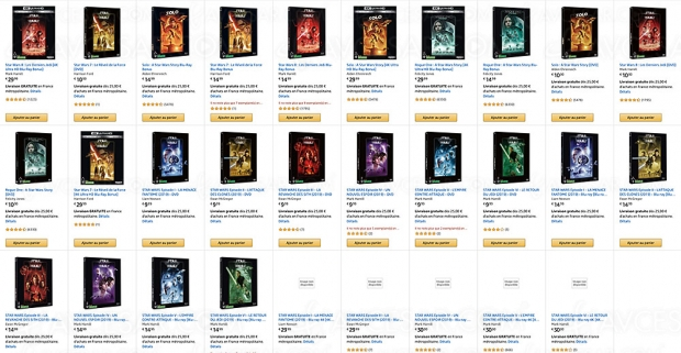 Bon plan Amazon Star Wars 4K Ultra HD : 2 films achetés, le 3e offert !