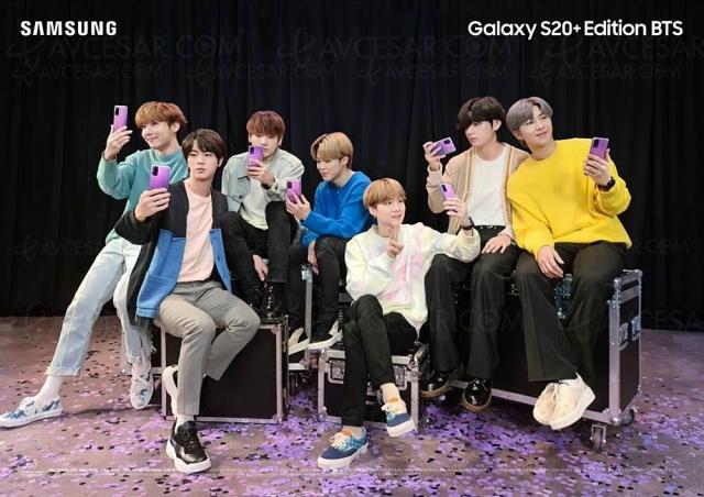 Samsung Galaxy S20+ et Galaxy Buds+ édition limitée BTS (Bangtan Boys)
