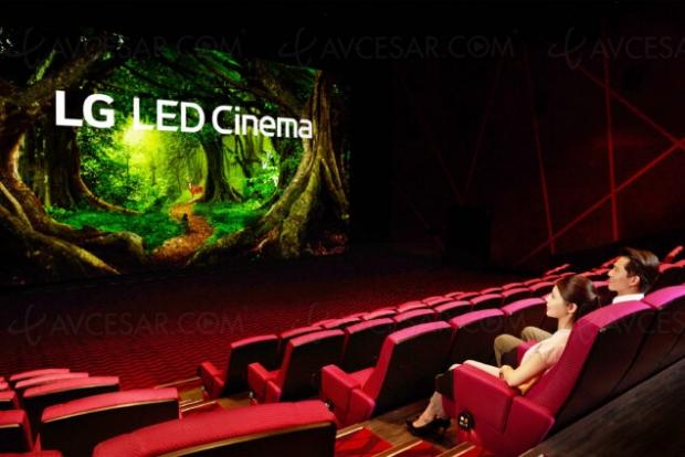 Premier écran de cinéma LG LED Cinema Display à Taiwan