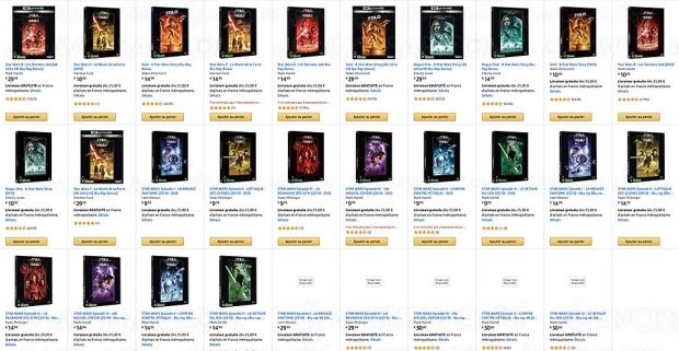Bon plan Star Wars 4K Ultra HD : 2 films achetés, le 3e offert !