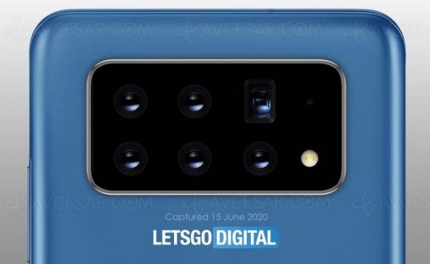 6 caméras orientables pour les futurs smartphones Samsung