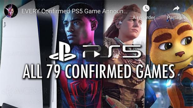 PlayStation 5 : 79 jeux confirmés (vidéo)