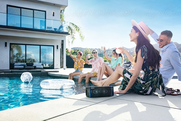 Sony SRS‑XB33 Extra Bass, enceinte IP67 et Bluetooth/NFC