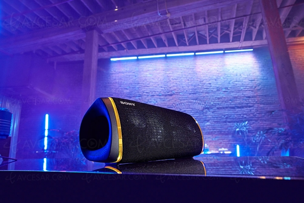 Sony SRS‑XB43 Extra Bass nomade, enceinte IP67 et Bluetooth/NFC
