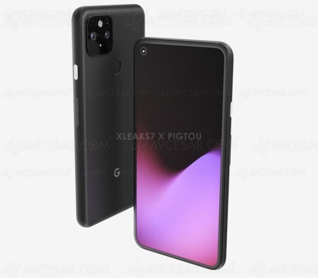 Premières images du smartphone Google Pixel 5 (fuite)