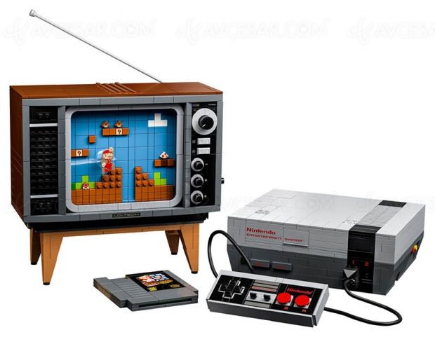 Console Nintendo NES en Lego, « juste » 2 646 pièces