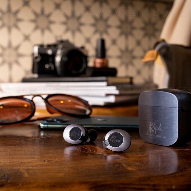 Klipsch T5 II True Wireless, écouteurs Bluetooth 5.0 et boîtier type Zippo