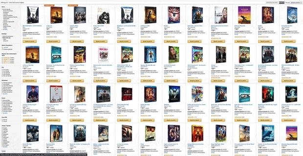 Amazon, deux 4K Ultra HD/Blu‑Ray achetés, un troisième offert parmi 4 622 titres