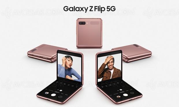 Samsung Galaxy Z Flip 5G, le pliable passe à la 5G