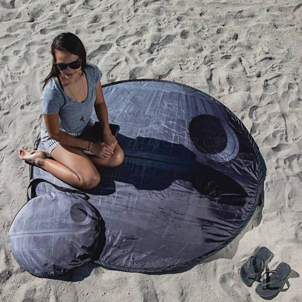 Serviette de plage rétractable Star Wars Étoile Noire