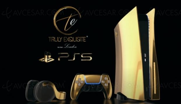 PlayStation 5 en or 24 carats, c'est prévu