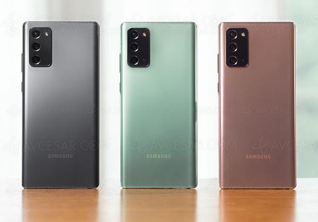 Samsung Galaxy Note20, énorme écran de 6,3'' et jusqu'à 256 Go de stockage