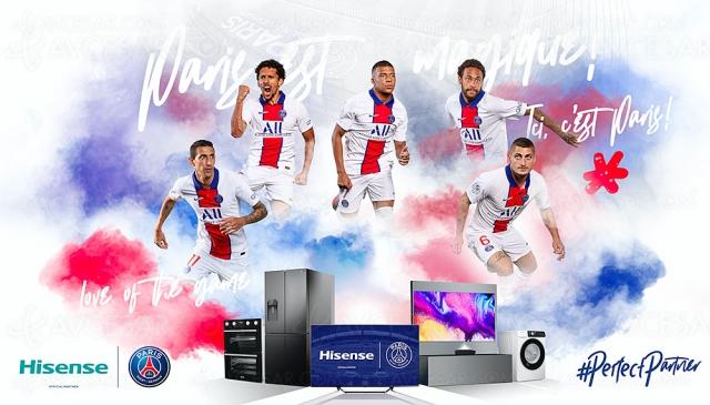 Hisense partenaire du Paris Saint‑Germain