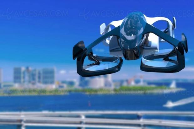 Photo et vidéo des premiers taxis volants japonais prévus en 2023
