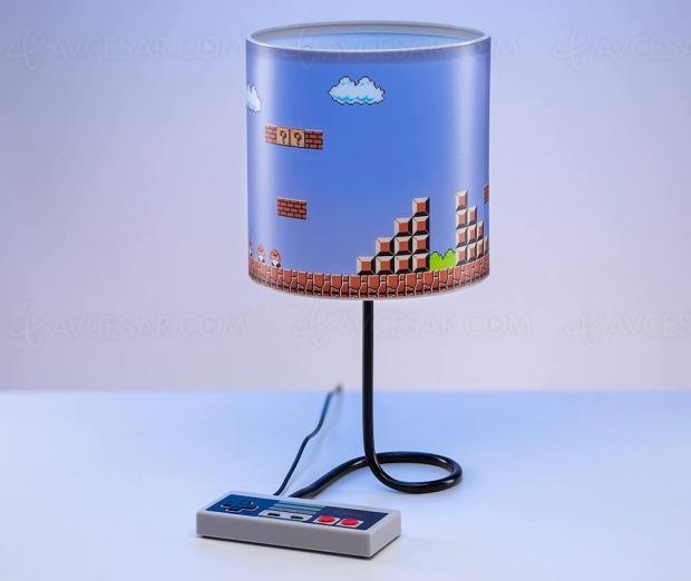 Lampe de bureau Super Mario, du vintage des années 80