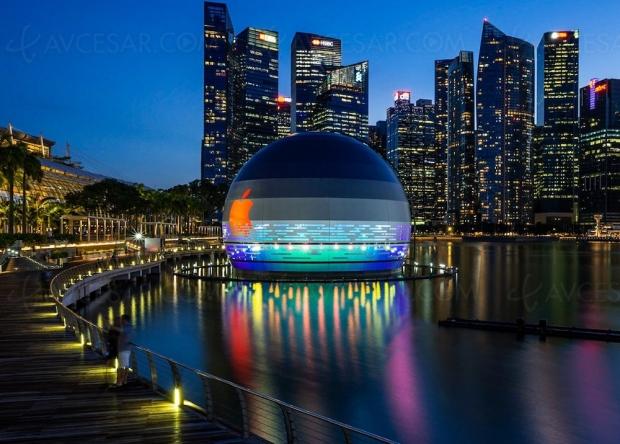 Premier Apple Store flottant à Singapour