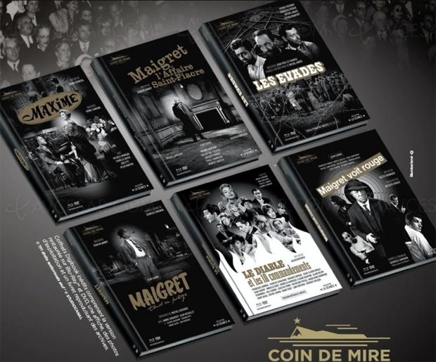 Le commissaire Maigret mène l'enquête dans trois adaptations inédites, bientôt chez Coin de mire cinéma