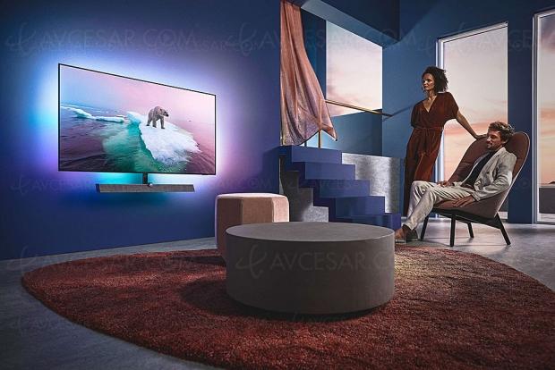IFA 20 > TV Oled Philips OLED+935, P5 4e génération, Ambilight 4 côtés, Android 9.0 et barre de son B&W 3.1.2