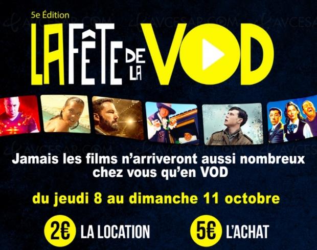 Fête de la VOD#5 du8au 11octobre, 2 € la séance