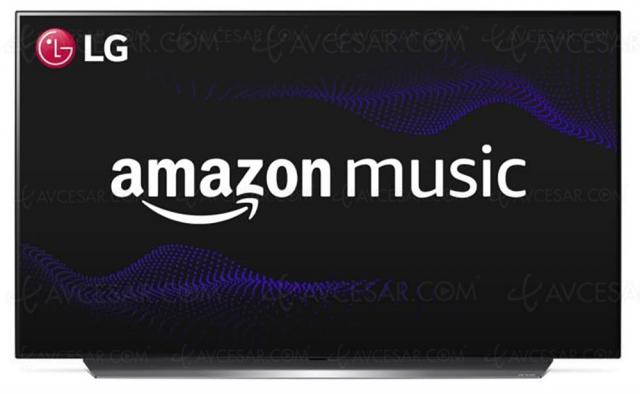 Amazon Music disponible sur les téléviseurs LG, gammes 2016 à 2020
