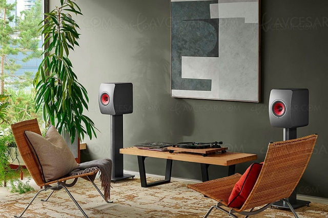 Kef LS50 Wireless II, enceintes actives Wi‑Fi, Bluetooth, Chromecast, AirPlay 2, DSD et MQA