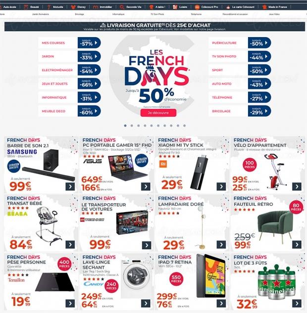 Soldes French Days CDiscount, jusqu'à -66% de remise sur des milliers d'articles