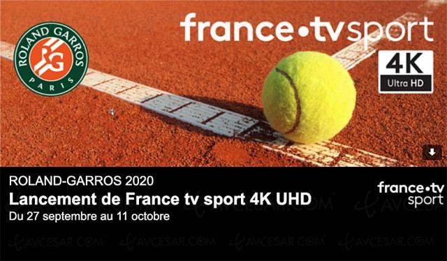 Comment profiter de Roland Garros Ultra HD/4K HDR sur France TV Sport UHD 4K ?