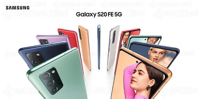 Smartphones Samsung Galaxy S20 FE : écran 120 Hz et 5G