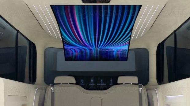 Écran LG Oled 77'' dans un concept car Hyundai