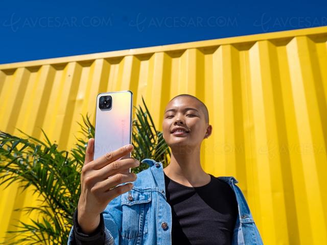 Smartphone Oppo Reno4 Z, 120 Hz, 48 Mpxls et 5G