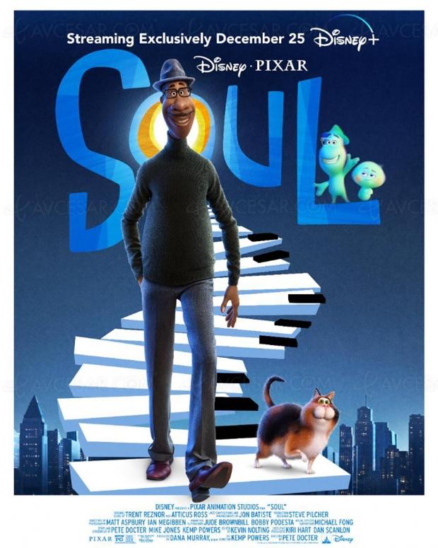 Joyeux Noël ! Le prochain Pixar Soul directement sur Disney+ le 25 décembre !