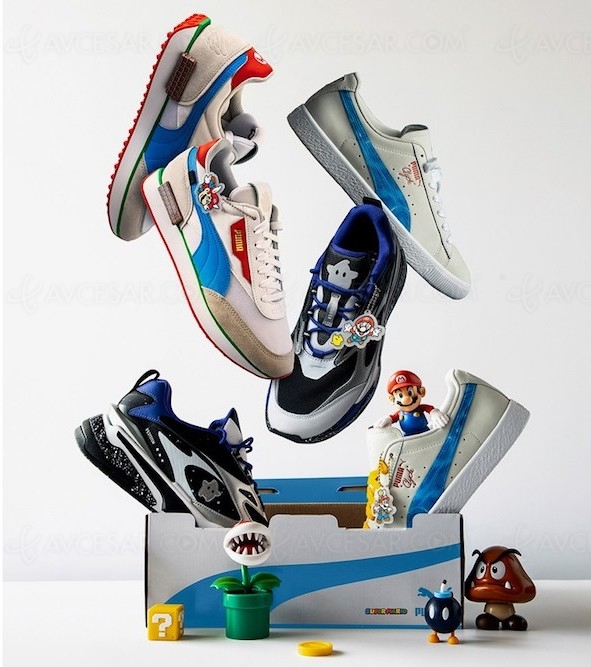 Baskets Puma Nintendo Super Mario : Future Rider, Clyde et RS‑Fast