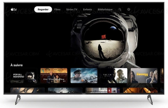 Applications Apple TV+ et Apple TV sur les Smart TV Sony 2018/2019 et 2020