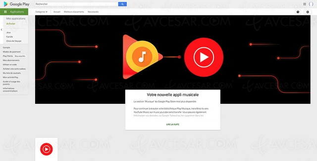 Google enterre le service Play Music