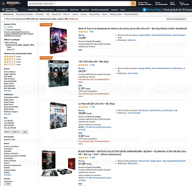 Amazon Prime Day, 153 coffrets 4K Ultra HD Blu‑Ray/Blu‑Ray jusqu'à ‑56%
