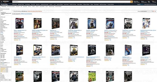 Soldes Amazon, 63 coffrets 4K Ultra HD à 10 € à saisir !