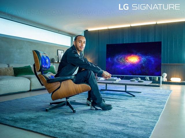 Le champion F1 Lewis Hamilton ambassadeur de LG Signature