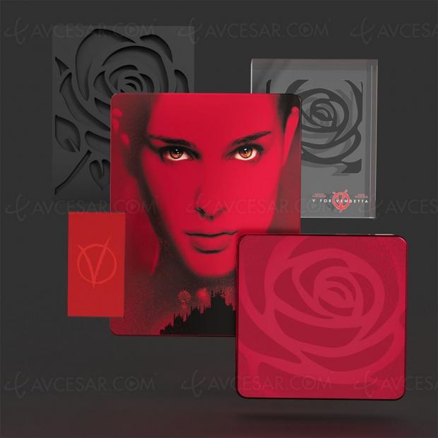 V pour Vendetta édition Titans of Cult, tous les détails du Steelbook 4K Ultra HD