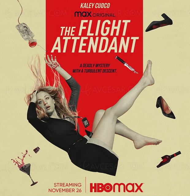 Excellente bande‑annonce de The Flight Attendant avec Kaley Cuoco