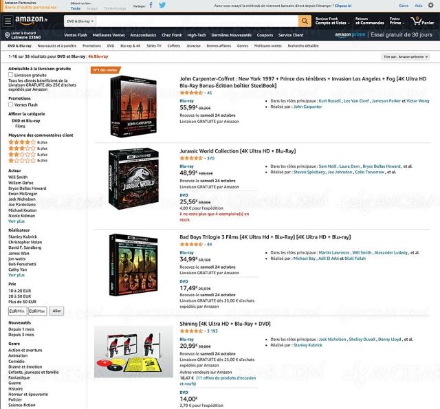 Soldes Amazon, 38 coffrets 4K Ultra HD jusqu'à 51% de remise à saisir !