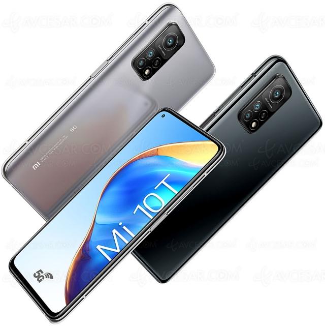 Smartphone Xiaomi Mi 10T, captation vidéo Ultra HD 8K, 5G et bon rapport qualité‑prix