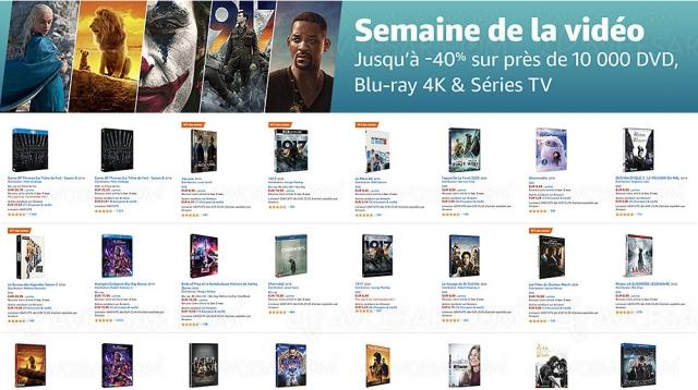 Semaine de la vidéo Amazon, 10 000 4K Ultra HD, Blu‑Ray, DVD jusqu'à ‑60%