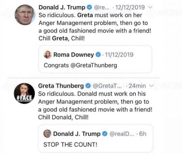 Greta 1 - Trump 0 : le choc des Tweets sur fond de vieux films