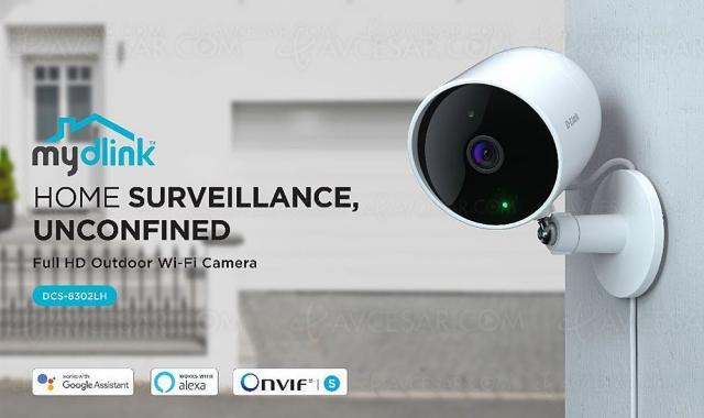 D-Link DCS-8302LH, caméra de surveillance intérieure/extérieure