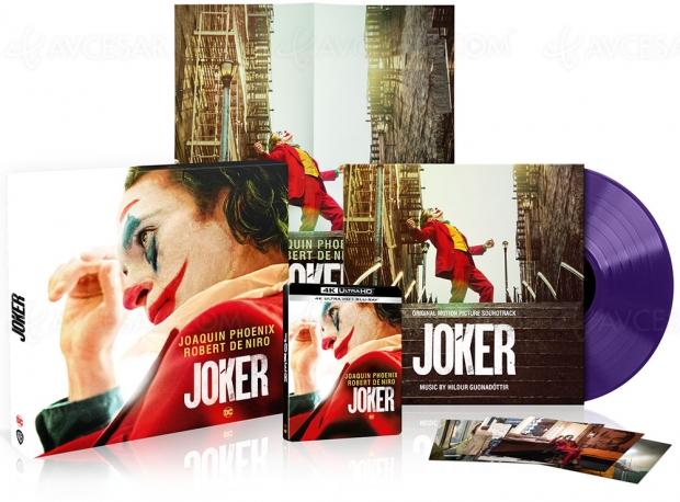 Coffret Noël 4K Ultra HD Joker avec vinyle violet de la BO