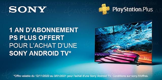 PlayStation Plus, abonnement 1 an offert pour l'achat d'un Sony Smart TV Android