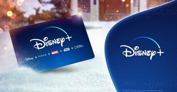 La carte cadeau Disney+ disponible pour les fêtes en version dématérialisée